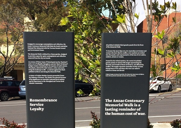ANZAC Centenary Memorial Garden Walk